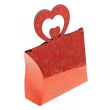 """Коробка сборная """"Двойное сердце"""", цвет красный"""